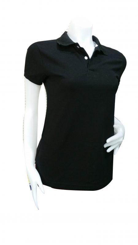 เสื้อโปโล สีดำผู้หญิง1