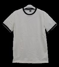 เสื้อยืดขาวกุ้นดำ