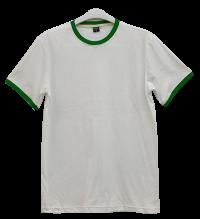 เสื้อยืดขาวกุ้นเขียว