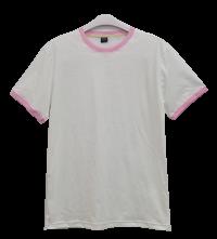 เสื้อยืดขาวกุ้นชมพู