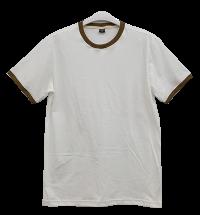 เสื้อยืดขาวกุ้นน้ำตาล