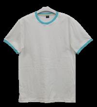 เสื้อยืดขาวกุ้นฟ้ามิ้นท์