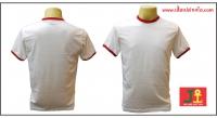เสื้อยืดขาวกุ้นแดง