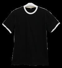 เสื้อยืดดำกุ้นขาว