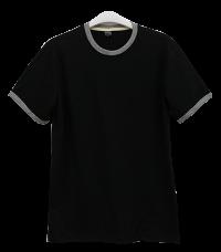 เสื้อยืดดำกุ้นเทา