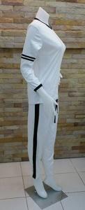 เสื้อแขนยาว กางเกงขายาว สีขาว 2