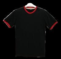 เสื้อยืดดำกุ้นแดง