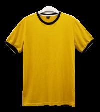 เสื้อยืดเหลืองไพรกุ้นดำ