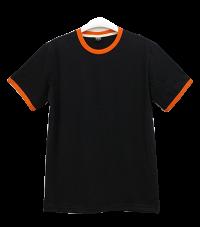 เสื้อยืดดำกุ้นส้ม