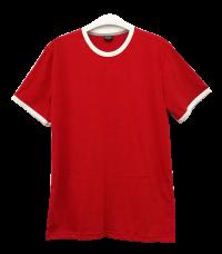 เสื้อยืดแดงกุ้นขาว