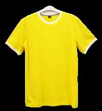 เสื้อยืดเหลืองกุ้นขาว