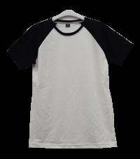 เสื้อไหล่สโลปขาวแขนดำ