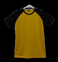 เสื้อไหล่สโลปเหลืองไพรแขนดำ
