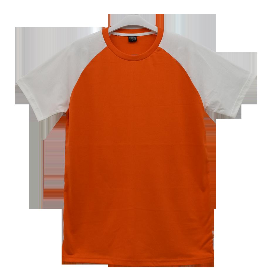 เสื้อไหล่สโลปส้มแขนขาว